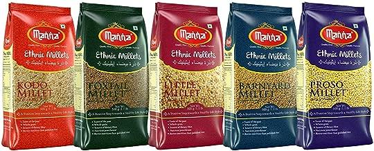 Manna Mixed Millets Combo Pack of 5 (Kodo Millet 500g, Proso Millet 500g, Little Millet 500g, Foxtail Millet 500g & Barnyard Millet 500g) Combo Pack
