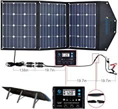 ACOPOWER 120W Foldable Solar Panel, 12V Foldable Solar Suitcase with ProteusX 20A Charge Controller in Suitcase …