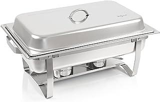 Zelsius Chafing Dish | Récipients d'eau Chaude en Acier Inoxydable | Chauffe-Plats | Rechaud pour Restauration, buffets et...