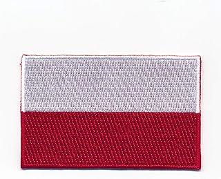 60 x 35 mm Polen Warschau Flagge Polska Poland Flag Aufnäher Aufbügler 1099 B