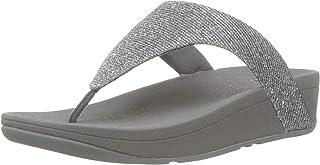 FitFlop Women's Lottie Toe Post - Holiday Glitz Open Sandals, Silver (Silver 011), 6.5 UK (40 EU)
