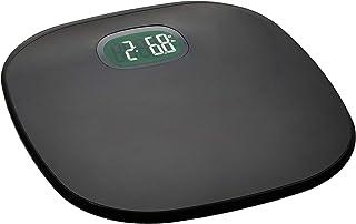 AmazonBasics - Bilancia per peso corporeo, spegnimento/accessione automatici, grigio, 180 kg