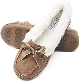 Womens Micro Suede Moccasin Indoor Outdoor Slipper Shoe