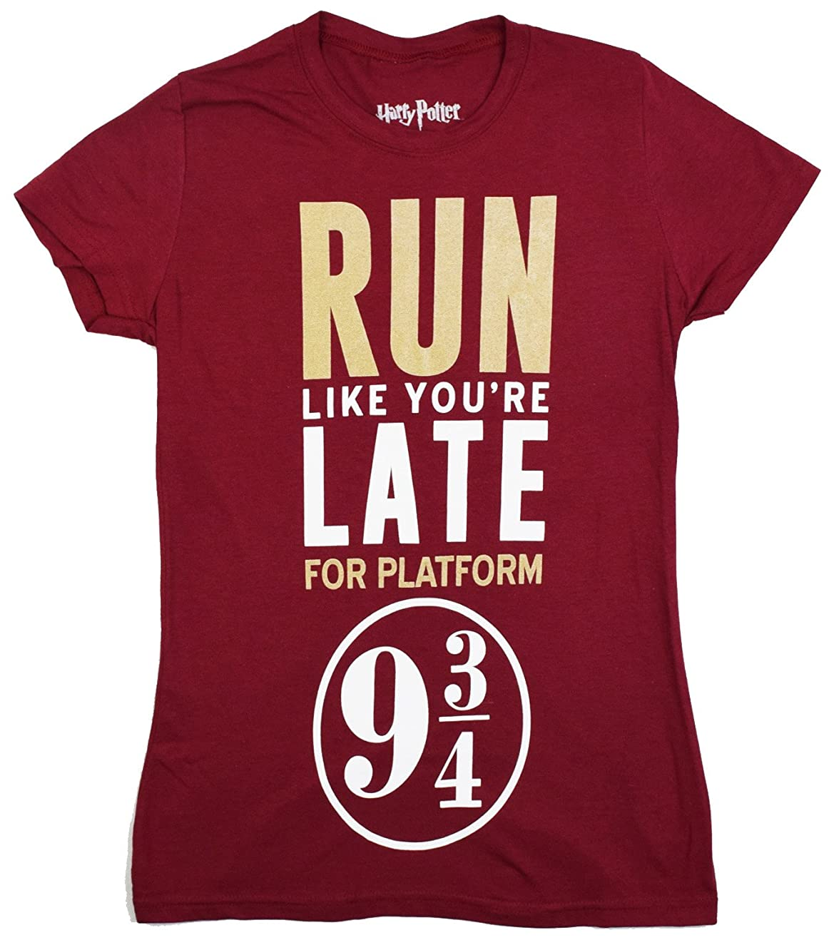 Harry Potter Run Like Platform 9 3/4 Juniors T-Shirt Licensed