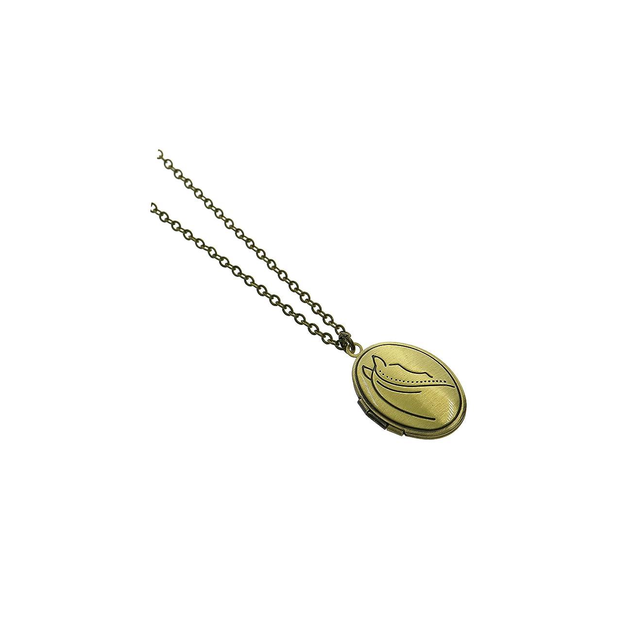 Ms.Iconic Vintage Style Horse Oval Photo Locket Charm Necklace 18+2''