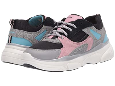 Geox Kids Lunare 1 (Little Kid/Big Kid) (Grey/Pink) Girl