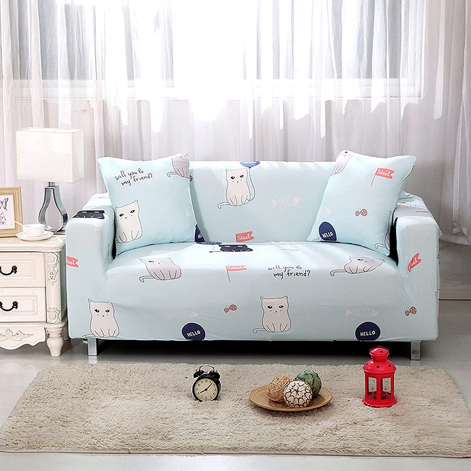 Luxury Cover 1 2 3 4 Sectional Seat Product Printed Sofa Slipcov Stretch Max 52% OFF