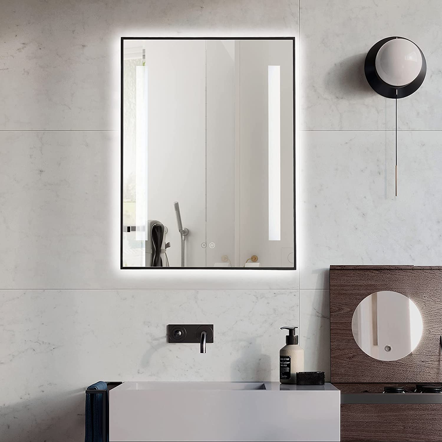 Mirrorons 24 x 32 Inch 2021 Trust LED Mounted Bathroom Mirror Wall Lighted