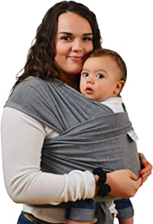 Baby wrap carrier for plus size moms-breathable organic baby wrap bundle, baby shower registry grey