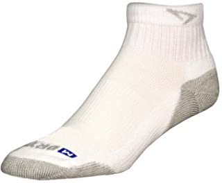 Drymax Run 1/4 Crew Low Socks White / Gray L 2-Pack
