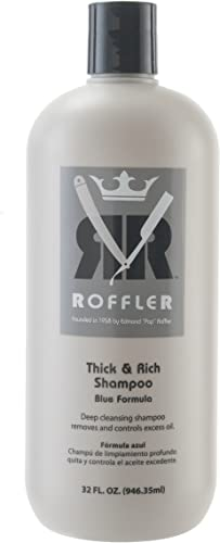 2021 Roffler Thick and Rich new arrival Shampoo discount Blue Formula, 32 Fluid Ounce outlet sale