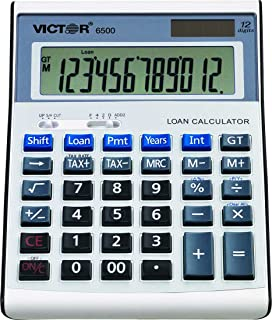 Victor 6500 12-Digit Desktop Financial Calculator, Loan & Mortgage Payments and Interest Calculator for Real Estate, Cars,...