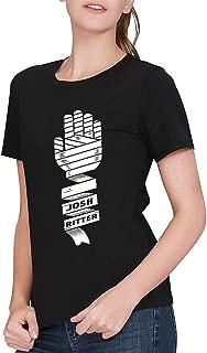 Women's Black Josh Ritter Art Logo T-Shirt Tee Shirt