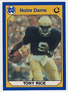 Tony Rice (Football Card) 1990 Notre Dame Collegiate Collection # 21 NM/MT