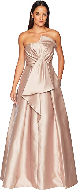 7df5c681d24 Doe. 34. Adrianna Papell. Mikado Strapless Bow Dress