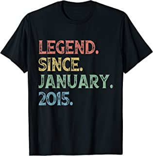 Vintage Legend Since January 2015 5th Birthday 5 Years Old T-Shirt
