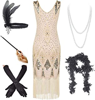 Minusone 1920s Costume Flapper Dress Party Evening Sequins Fringed Dresses Gown