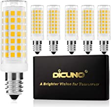 DiCUNO E14 LED Bulb Dimmable 4W (40W Halogen Equivalent) 430LM 220V Warm White(3000K) E14 Ceramic Base 6-Pack