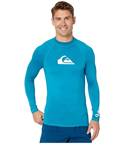 Quiksilver All Time Long Sleeve Rashguard (Crystal Teal) Men