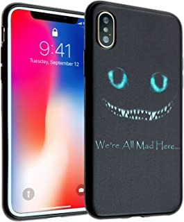 iPhone Xs Max Case, Alice in Wonderland DURARMOR FlexArmor Rubber Flexible Bumper Shockproof Ultra Slim TPU Case Drop Protection Cover for iPhone Xs Max Cheshire Cat Smile Face