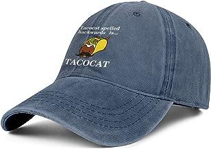 Tacocat Spelled Backwards is. Denim Cap Windproof Cowboy Hat Unisex Rock Baseball