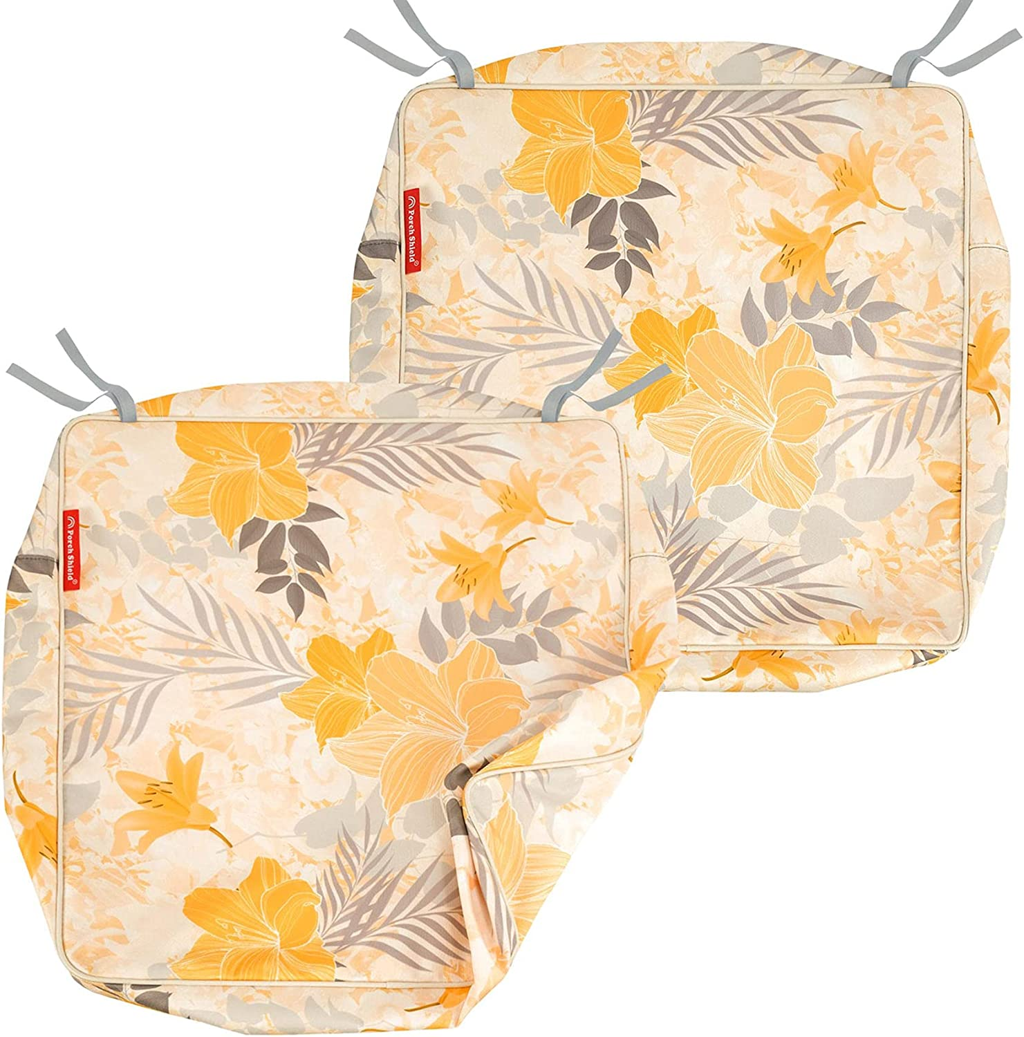 Porch Shield Outdoor Cushion Covers 19 X 19, Square Patio Chair Seat Covers, Waterproof Square Cushion Slipcovers Replacement 2 Pack