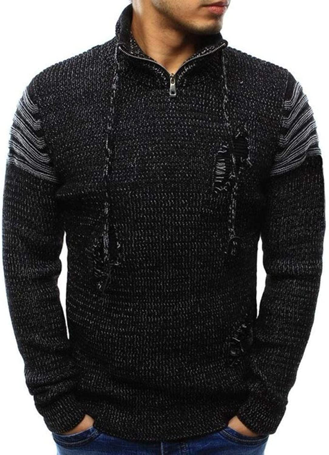 Autumn Winter Sweater Men New Gifts Cotton Knitted Pullov Solid Max 70% OFF Casual