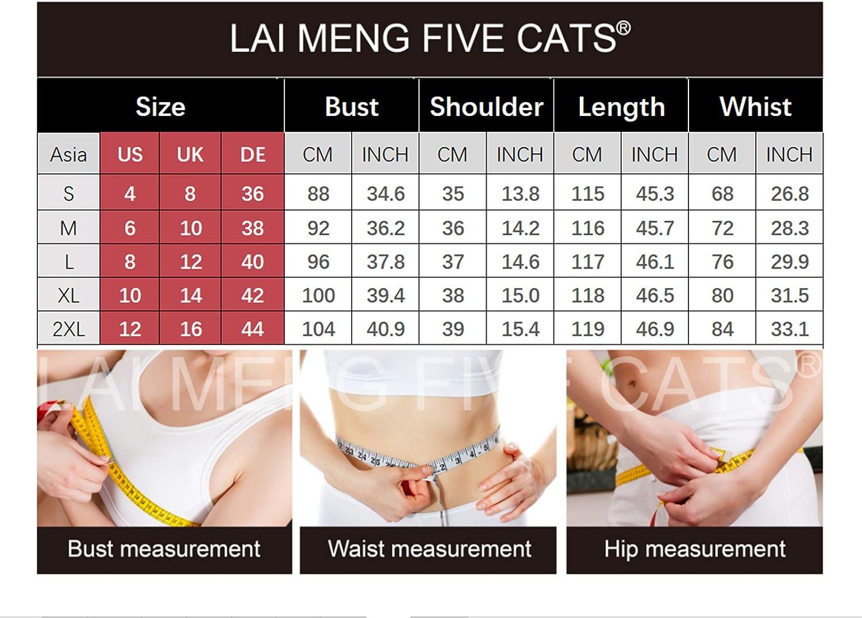 LAI MENG FIVE CATS Women's Casual Floral Print Collared Neck A-Line Mini Shirt Dress