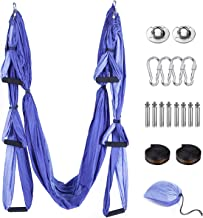 Tumax Aerial Yoga hangmat, yoga-hangmat, anti-zwaartekracht, yoga-schommelset, inclusief montageaccessoires, yoga-hangmat ...