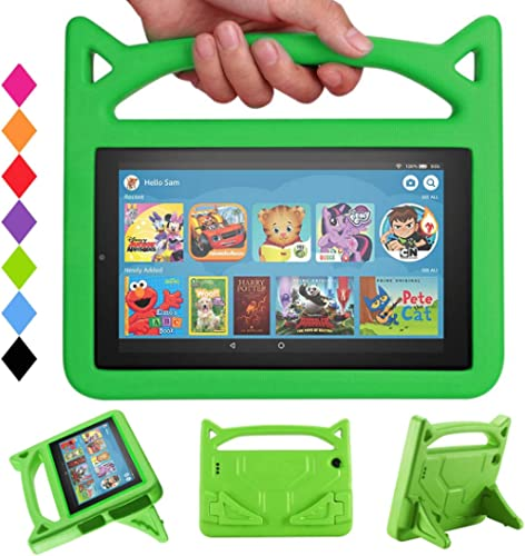New 7 Tablet Case Kids-SHREBORN Lightweight Shock Proof Kids Friendly Case with Stand Handle for All-New 7 Tablet(201...
