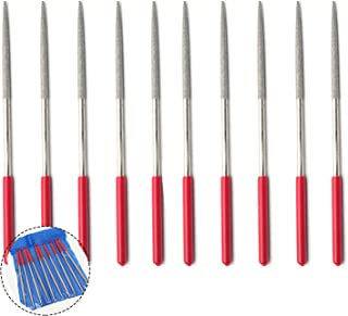 Rannb 180mm/7.1-Inch Round Rat Tail Diamond Needle Files for for Shaping Metal Wood Plastic-Pack of 10 (Round Shape)