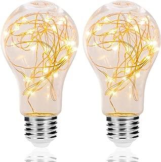 LED Decorative Bulbs, DORESshop 2W Fairy Light Filaments Bulbs, 15W Equivalent Starry Lights for Pendant Light Fixtures, Bedroom, Living Room, Christmas, Wedding, Warm White, 2 Pack