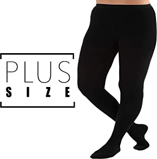 4XL Plus Size Compression Pantyhose, Opaque Graduated Support Hose Stockings - 20-30mmHg Graduated Medical Compression, Closed Toe – Absolute Support Brand, A204BL7 (Black, XXXX-Large)