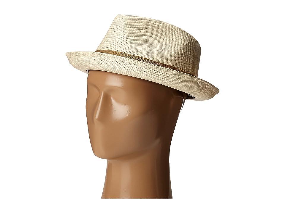 CARLOS by Carlos Santana Pinch Front Shantung Fedora (Natural) Fedora Hats