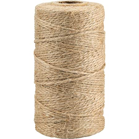 KINGLAKE 328 Feet Natural Jute Twine Best Arts Crafts Gift Twine Christmas Twine Durable Packing String