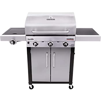 Char-Broil 463371719 Performance TRU-Infrared 3-Burner Cabinet Style Gas Grill, Stainless Steel