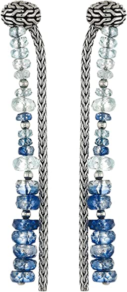 Classic Chain Drop Earrings with Aquamarine and Kyanite