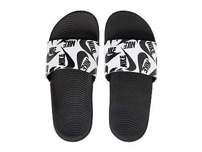 Nike Kids Kawa Slide SE JDI (Little Kid/Big Kid) (White/Black) Kids Shoes