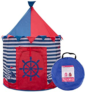 Ava & Kings Kids Play Tent Children's Pop Up Playhouse Fort for Toddler Bedroom, Indoor or Outdoor   Little Boys Toys Pretend Beach Sailor Clubhouse  Easy Set-Up & Simple to Clean