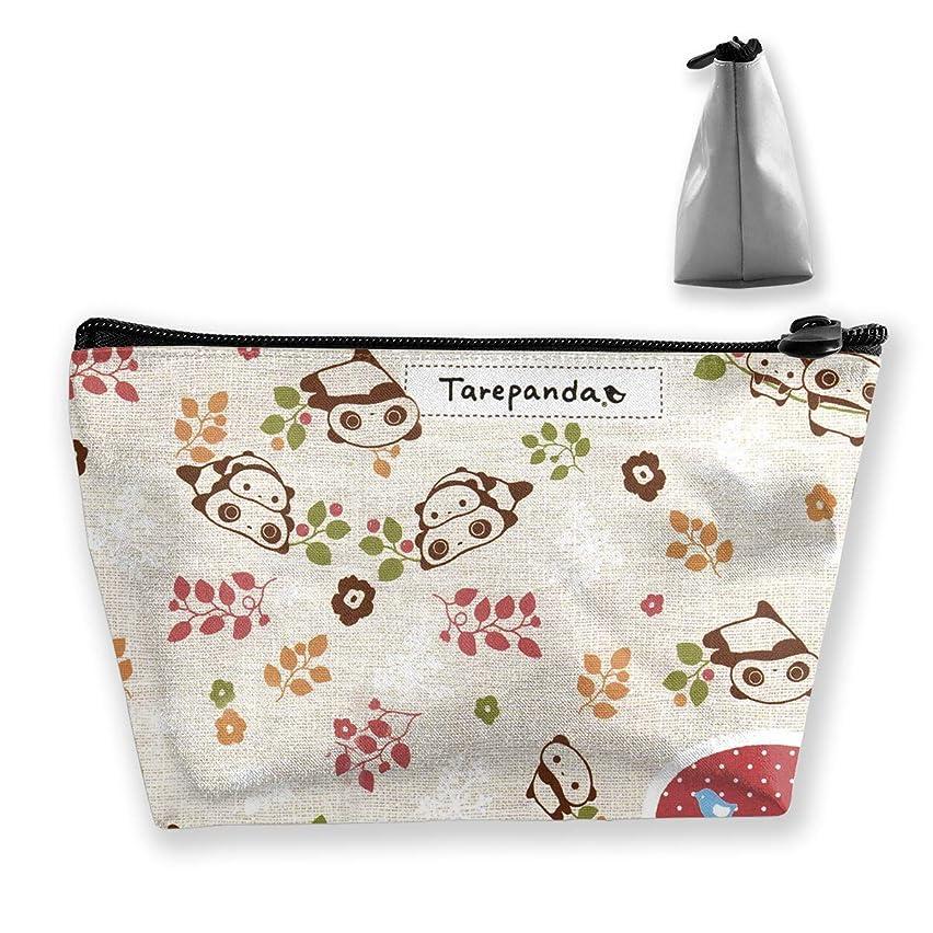 生物学高原猫背タレパンダ 化粧ポーチ メイクポーチ コスメポーチ 化粧品収納 軽い 軽量 防水 出張 旅行も便利 小物入れ 携帯便利 多機能 バッグ 小さな化粧品の袋