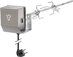 BBQ-Toro Edelstahl Grillspieß Set passend für Weber Spirit II Gasgrill I mit 2X Fleischnadeln, Griffstück und Motor I Rotisserie Drehspieß