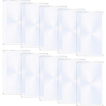 2 lentilles de fresnel format carte crédit grossissement 3x