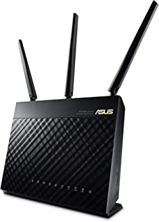 ASUS RT-AC68U, AC1900 Dual Band Gigabit WiFi Router, AiMesh for mesh wifi system, AiProtection network security