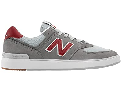 New Balance Numeric AM574 (Grey/Red) Skate Shoes