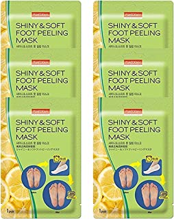 Multi Pair Foot Peeling Mask Set By Purederm - Exfoliating Foot Peel Spa Mask For Baby Soft Skin W/Sunflower Seed Oil & Le...