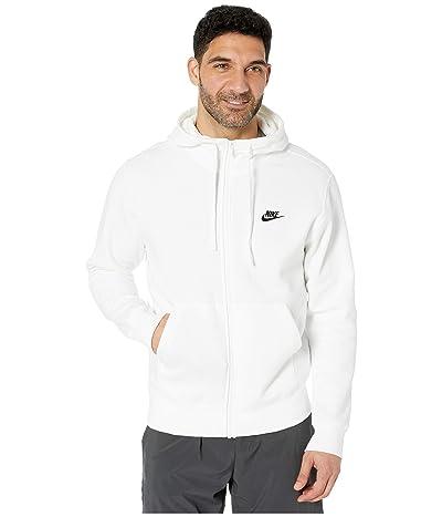 Nike NSW Club Hoodie Full Zip (White/White/Black) Men