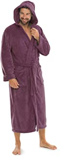 aqua-textil Malibu Bathrobe Hooded Plain Long Patched Pockets Women Men Unisex Microfibre Coral-Fleece XS-XXXL
