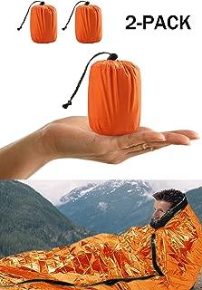 Saco de dormir port/átil y reutilizable para acampada color plateado Meatyhjk
