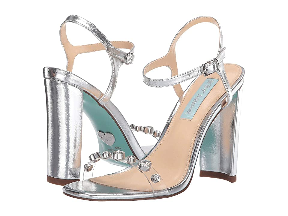 Blue by Betsey Johnson Brady (Silver) High Heels