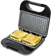 Cecotec Rock'n Toast Sandwich Squared Grill met antiaanbaklaag, capaciteit voor 2 sandwiches, oppervlakte grill, koele han...